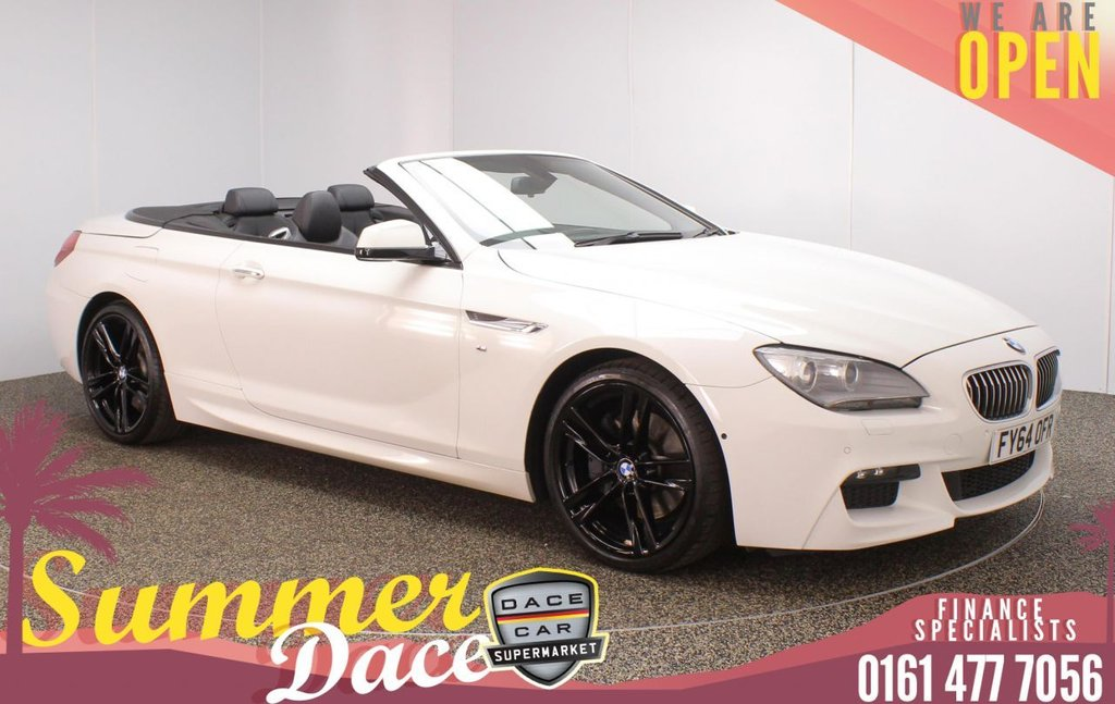 USED 2014 64 BMW 6 SERIES 3.0 640D M SPORT 2DR AUTO 309 BHP FULL SERVICE HISTORY + HEATED LEATHER SEATS + SATELLITE NAVIGATION + HEAD-UP DISPLAY + SURROUND VIEW CAMERA + HARMAN/KARDON PREMIUM SPEAKERS + PARKING SENSOR + BLUETOOTH + CRUISE CONTROL + CLIMATE CONTROL + MULTI FUNCTION WHEEL + ELECTRIC/MEMORY FRONT SEATS + XENON HEADLIGHTS + DAB RADIO + ELECTRIC WINDOWS + ELECTRIC/HEATED/FOLDING DOOR MIRRORS + 20 INCH ALLOY WHEELS