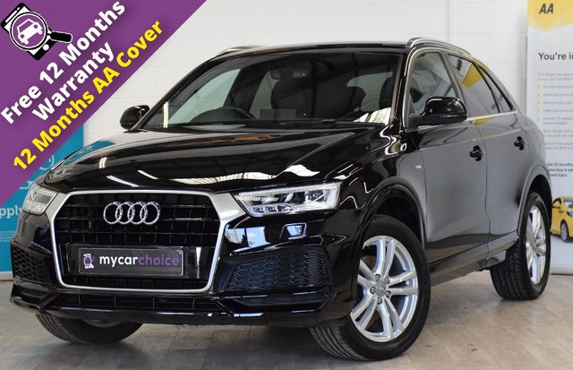 USED 2017 66 AUDI Q3 2.0 TDI QUATTRO S LINE EDITION 5d 182 BHP FINE NAPPA LEATHER, ELECTRIC FOLDING HEATED MIRRORS, PARK SYSTEM PLUS WITH FRONT AND REAR SENSORS, PRIVACY GLASS, AUTO DIMMING REAR VIEW MIRRORS, SAT NAV, CRUISE CONTROL, LED HEADLIGHTS, POWER OPERATED BOOT LID