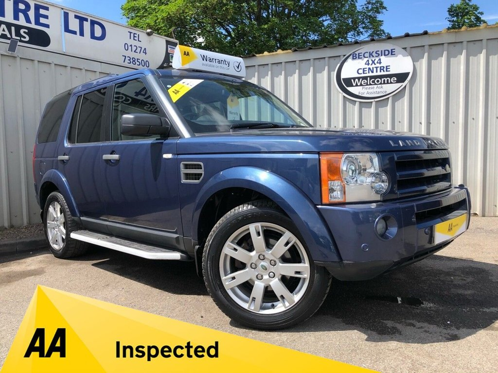 USED 2008 58 LAND ROVER DISCOVERY 2.7 3 TDV6 HSE 5d 188 BHP AA INSPECTED. FINANCE. WARRANTY. HIGH SPEC. LOW MILEAGE. MANY EXTRAS