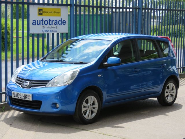 USED 2009 09 NISSAN NOTE 1.4 ACENTA 5d 88 BHP. 8 Nissan Main Dealer Service Stamps-A/C-Cruise-Bluetooth  AIR CON-ALLOYS-BLUETOOTH-ABS-CRUISE-8 NISSAN SERVICE STAMPS-