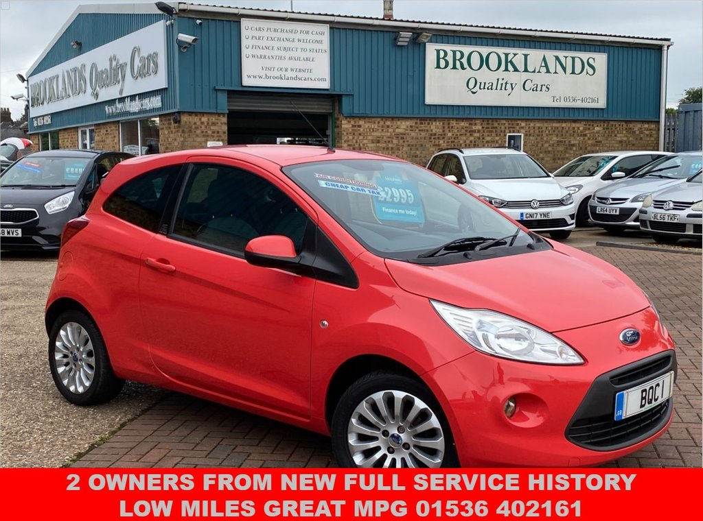 USED 2009 09 FORD KA 1.2 ZETEC 3 Door Sunrise Red 69 BHP Full Service History Low Road Tax  2 Owners From New Full Service History Low Miles Great MPG 01536 402161