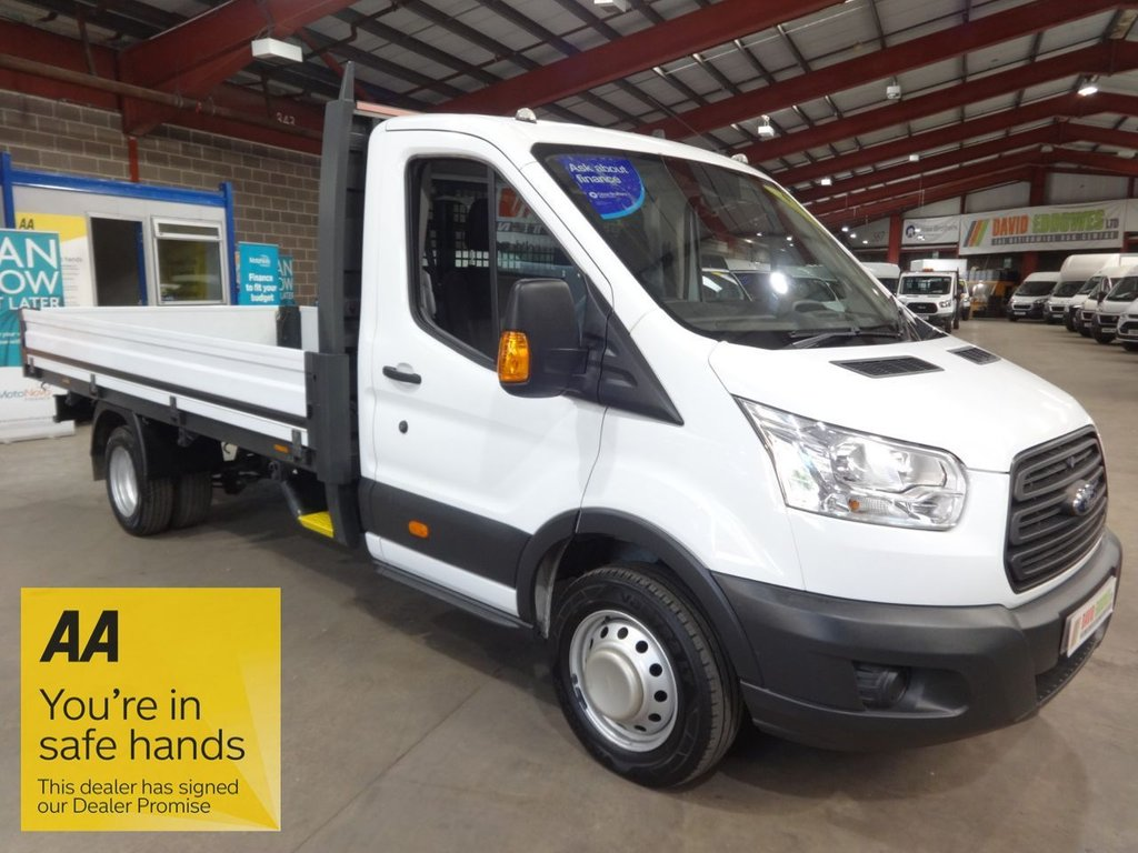 USED 2015 65 FORD TRANSIT 2.2 350 C/C DRW 124 BHP EF L4 LWB DROPSIDE - AA DEALER PROMISE - TRADING STANDARDS APPROVED -