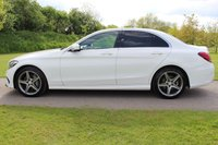 USED 2015 15 MERCEDES-BENZ C-CLASS 2.0 C200 AMG LINE 4d 184 BHP AMG LINE HIGH SPEC WARRANTY PLUS MOT INCLUDED