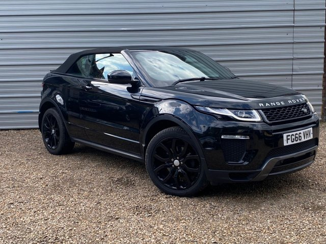 """USED 2016 66 LAND ROVER RANGE ROVER EVOQUE 2.0 TD4 HSE DYNAMIC 3d 177 BHP Black Leather -Black 20"""" Alloy"""