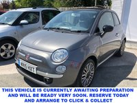 USED 2015 15 FIAT 500C 1.2 3d 4 Seat Convertible with Black Electric Convertible Roof and a Very Rare Leather Interior makes this a Summer Stunner Get Ready for Summer Now!