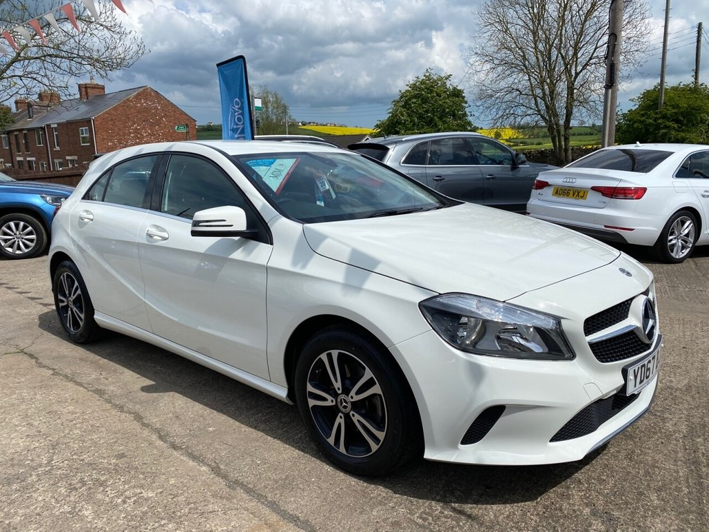 USED 2017 67 MERCEDES-BENZ A-CLASS 1.6 A 160 SE 5d 102 BHP * 1 OWNER * FULL LEATHER * SAT NAV * REAR CAM * BLUETOOTH MEDIA * STUNNING THROUGHOUT *