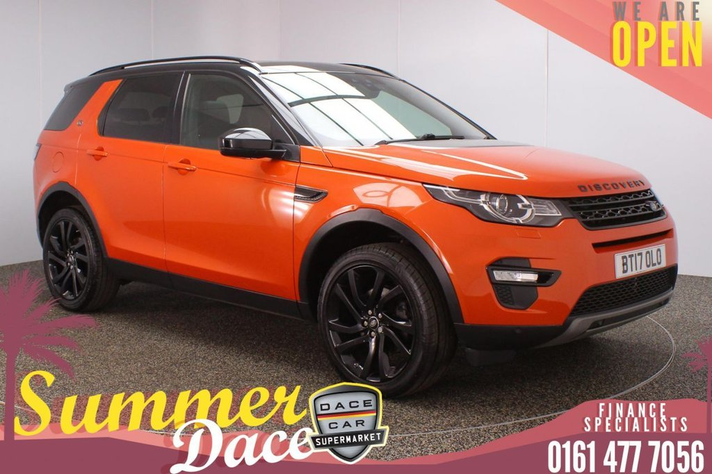 USED 2017 17 LAND ROVER DISCOVERY SPORT 2.0 TD4 HSE BLACK 5DR AUTO 180 BHP SERVICE HISTORY + 7 SEATS + HEATED LEATHER SEATS + PANORAMIC SUNROOF + SATELLITE NAVIGATION + REVERSING CAMERA + PARKING SENSOR + LANE ASSIST SYSTEM + BLUETOOTH + CRUISE CONTROL + CLIMATE CONTROL + MULTI FUNCTION WHEEL + PRIVACY GLASS + XENON HEADLIGHTS + DAB RADIO + AUX/USB PORTS + ELECTRIC FRONT SEATS + ELECTRIC WINDOWS + ELECTRIC DOOR MIRRORS + 20 INCH ALLOY WHEELS
