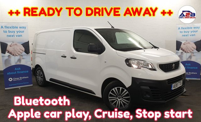 USED 2018 18 PEUGEOT EXPERT 1.6 BLUE HDI  ++ READY TO DRIVE AWAY ++ Bluetooth, Apple car play, DAB, Cruise Control, Stop start, 3 seats, Electric Windows, Electric Mirrors and much more ... ++ READY TO DRIVE AWAY ++