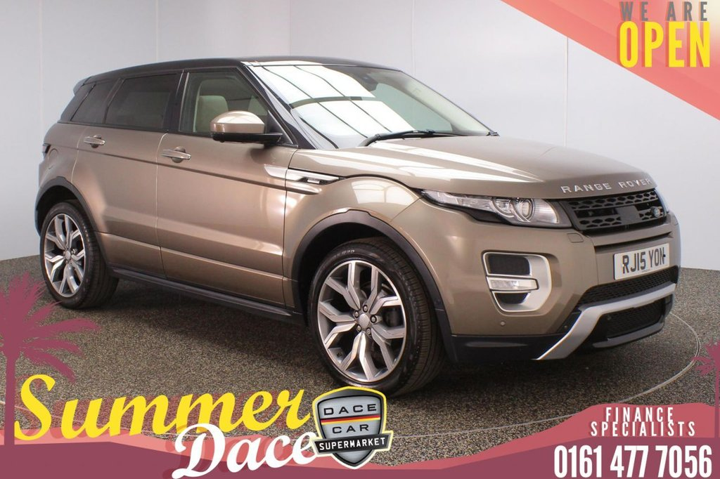 USED 2015 15 LAND ROVER RANGE ROVER EVOQUE 2.2 SD4 AUTOBIOGRAPHY 5DR AUTO 190 BHP FULL MAIN DEALER SERVICE HISTORY + AIR CONDITIONED LEATHER SEATS + PANORAMIC SUNROOF + SURROUND VIEW CAMERA + SATELLITE NAVIGATION + PARK ASSIST SYSTEM + DUAL VIEW TOUCHSCREEN + BLIND SPOT MONITORING + HEATED STEERING WHEEL + BLUETOOTH + CRUISE CONTROL + CLIMATE CONTROL + MULTI FUNCTION WHEEL + XENON HEADLIGHTS + PRIVACY GLASS + DAB RADIO + ELECTRIC/MEMORY FRONT SEATS + ELECTRIC WINDOWS + ELECTRIC/HEATED/FOLDING DOOR MIRRORS + 20 INCH ALLOY WHEELS