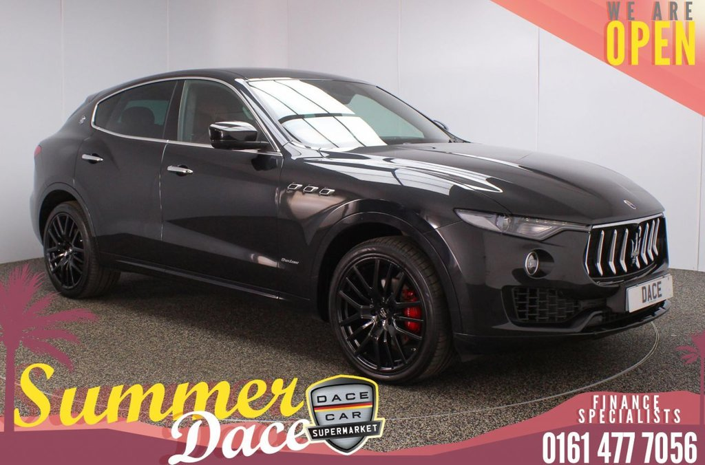 USED 2018 18 MASERATI LEVANTE 3.0 D V6 GRANLUSSO 4WD 5DR  AUTO 271 BHP FULL MAIN DEALER SERVICE HISTORY + HEATED HALF LEATHER SEATS + SATELLITE NAVIGATION + REVERSING CAMERA + PARKING SENSOR + BLUETOOTH + CRUISE CONTROL + CLIMATE CONTROL + MULTI FUNCTION WHEEL + ELECTRIC/MEMORY FRONT SEATS + PRIVACY GLASS + XENON HEADLIGHTS + DAB RADIO + AUX/USB PORTS + ELECTRIC WINDOWS + ELECTRIC/HEATED/FOLDING DOOR MIRRORS + 21 INCH ALLOY WHEELS
