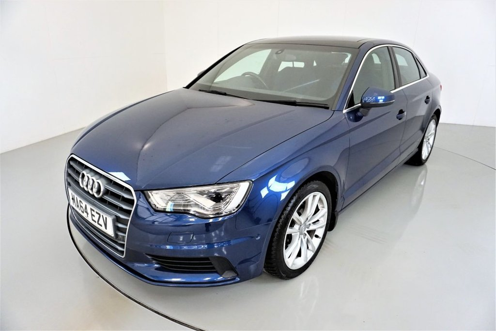 USED 2014 64 AUDI A3 2.0 TDI SPORT 4d AUTO-1 OWNER FROM NEW-PANORAMIC SUNROOF-HEATED SEATS-BLUETOOTH-CRUISE CONTROL-SATNAV-PARKING SENSORS-DAB RADIO-CLIMATE CONTROL