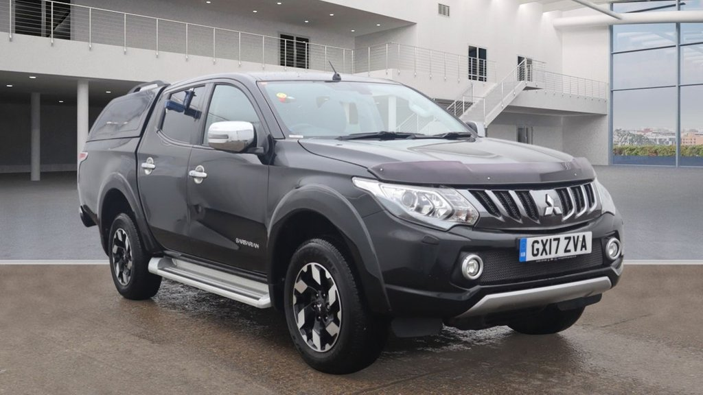 USED 2017 17 MITSUBISHI L200 2.4 DI-D Barbarian Double Cab Hardtop Canopy 4WD Hardtop Canopy Sat Nav Leather