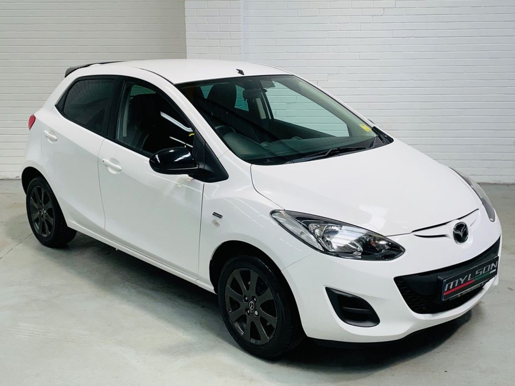 USED 2014 14 MAZDA 2 1.3 COLOUR EDITION 5d 74 BHP Pearl Crystal White AA Inspected Warranty FINANCE