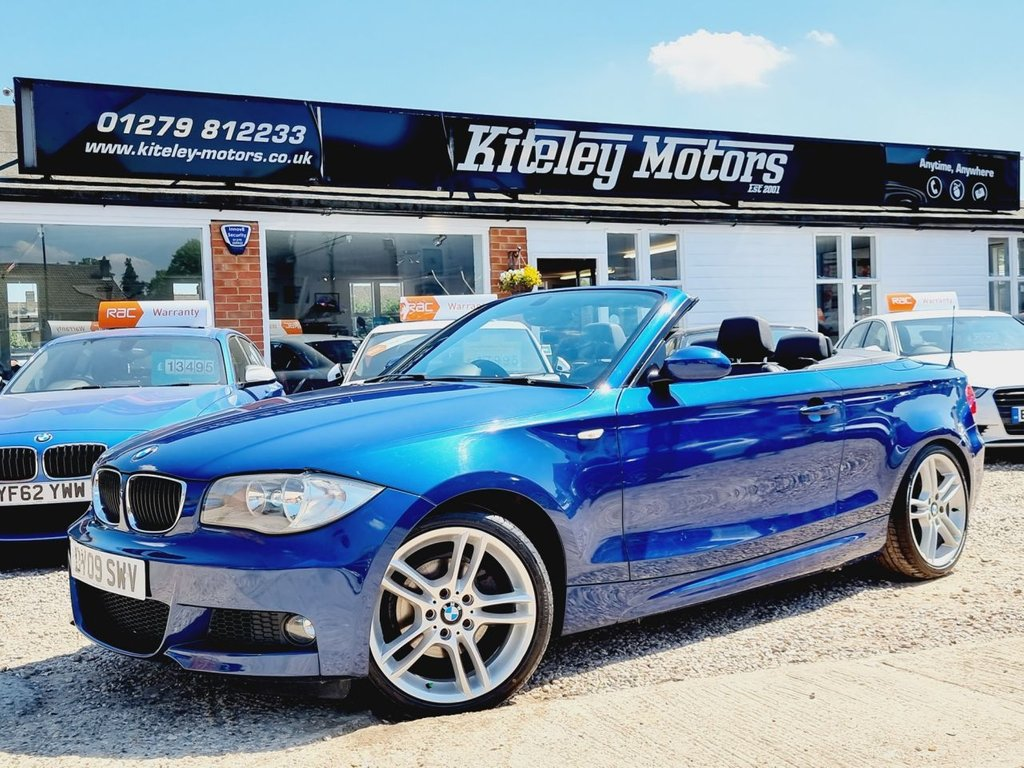USED 2009 09 BMW 1 SERIES 2.0 118I M SPORT 2d 141 BHP CONVERTIBLE