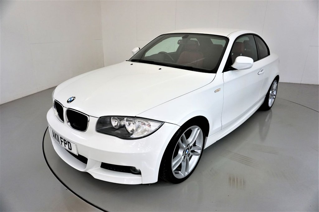 USED 2011 11 BMW 1 SERIES 2.0 120D M SPORT 2d-2 OWNER CAR-CORAL RED BOSTON LEATHER-CRUISE CONTROL-SUN PROTECTION GLASS-CLIMATE CONTROL
