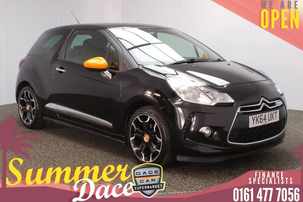 USED 2014 64 CITROEN DS3 1.2 DSIGN BY BENEFIT 3DR 82 BHP FULL SERVICE HISTORY + £20 12 MONTHS ROAD TAX + BLUETOOTH + CRUISE CONTROL + AIR CONDITIONING + PRIVACY GLASS + RADIO/CD + AUX/USB PORTS + ELECTRIC WINDOWS + ELECTRIC DOOR MIRRORS + 17 INCH ALLOY WHEELS