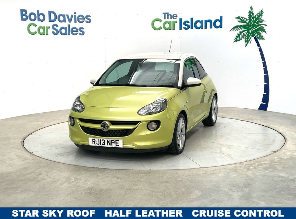USED 2013 13 VAUXHALL ADAM 1.2 SLAM 3d 69 BHP Half Leather Cruise Control AUX Input only 32000 miles
