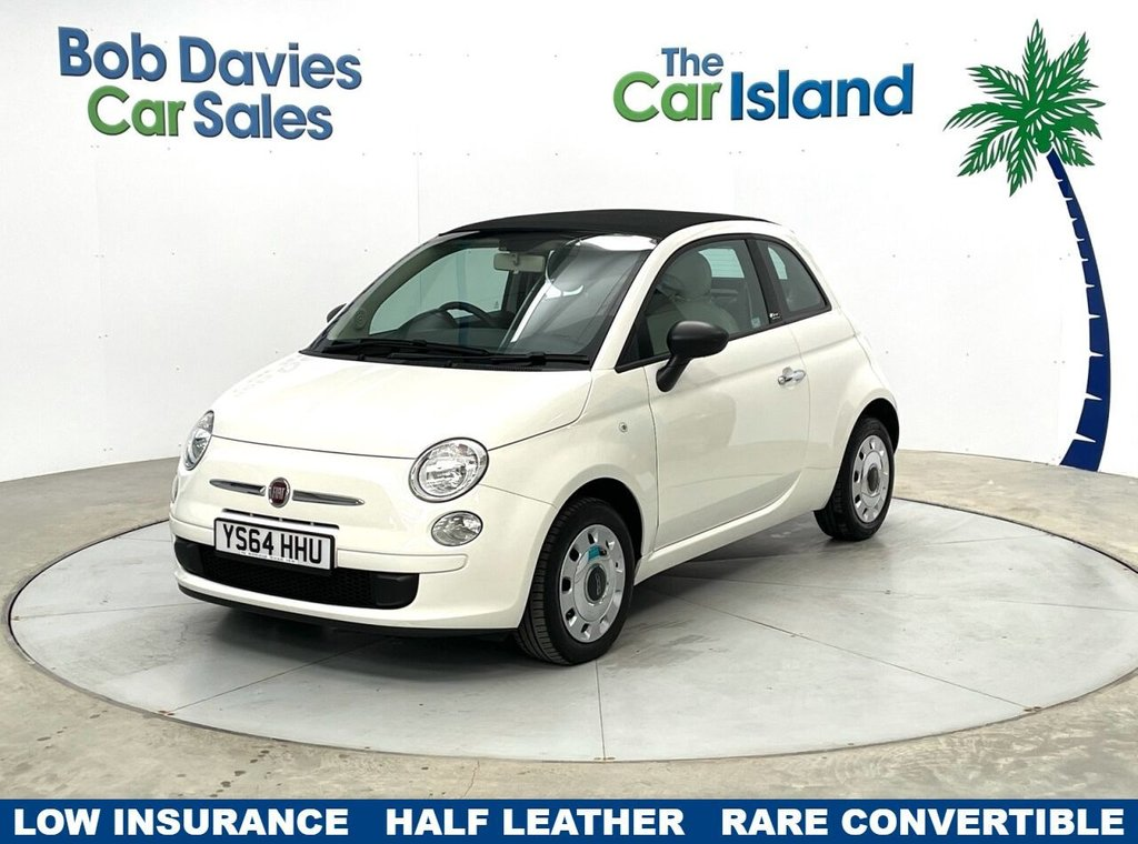 USED 2014 64 FIAT 500C 1.2 POP 3d 69 BHP Convertible Roof Very Low Mileage 23000 miles FSH