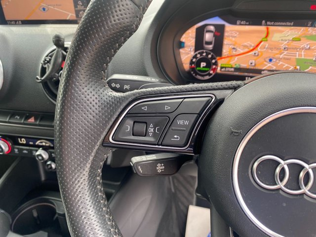 USED 2017 67 AUDI A3 2.0 S3 TFSI QUATTRO BLACK EDITION 4d 306 BHP nardo grey metallic