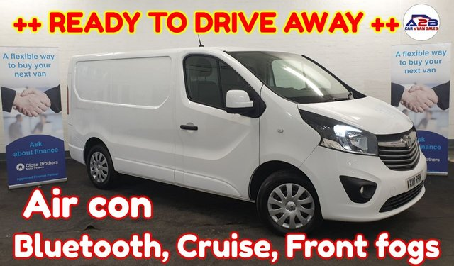 USED 2018 18 VAUXHALL VIVARO 1.6 2900 SPORTIVE CDTI ++ READY TO DRIVE AWAY ++ SAT NAV ++ Choice of 4 in stock, Bluetooth, Air con, Cruise Control, 3 Seats, Electric Windows, Electric Mirrors and much more ...