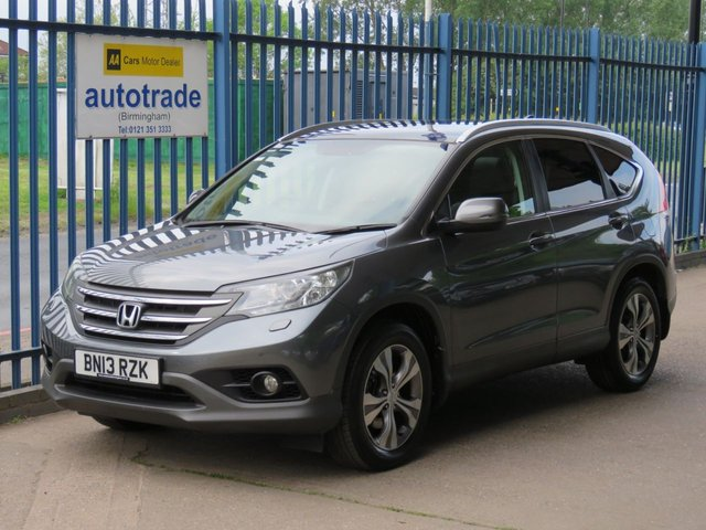 USED 2013 13 HONDA CR-V 2.2 I-DTEC EX 5d 148 BHP.SAT NAV-HEATED LEATHER-PANROOF-SERVICE HSITORY INC 7 STAMPS SAT NAV- PANORAMIC ROOF-HEATED LEATHER SEATS-PARKING CAMERA+PARKING SENSORS-CRUISE-ALLOYS-DAB