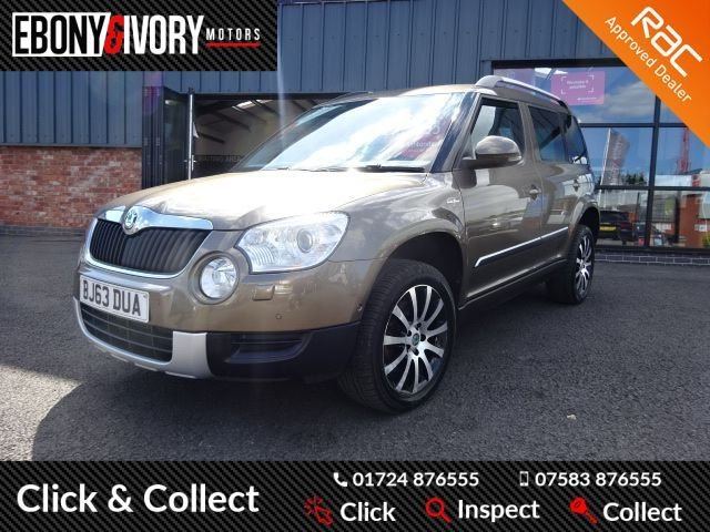 USED 2013 63 SKODA YETI 2.0 LAURIN AND KLEMENT TDI CR 5d 170 BHP FULLY SERVICED + 1 YEAR MOT