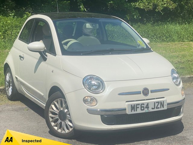 USED 2014 64 FIAT 500 1.2 LOUNGE 3d 69 BHP FULL PANORAMIC GLASS ROOF