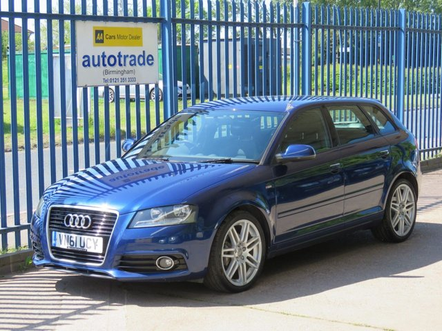 USED 2011 61 AUDI A3 2.0 SPORTBACK TDI S LINE 5dr 138 1/2 Leather-Bluetooth-Alloys-CD player-Climate control Finance arranged Part exchange available Open 7 days