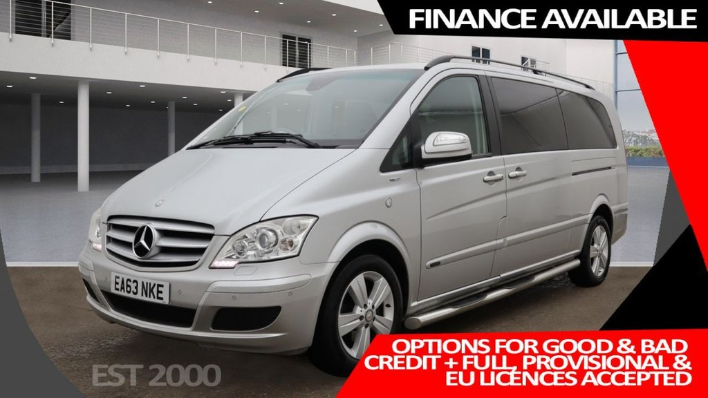 USED 2013 63 MERCEDES-BENZ VIANO 2.1 AMBIENTE CDI BLUEEFFICENCY  5d 163 BHP * PRIVACY GLASS * AIR CONDITIONING * PARKING SENSORS * 17 INCH ALLOYS * 1 OWNER ONLY * 8 SEATER *