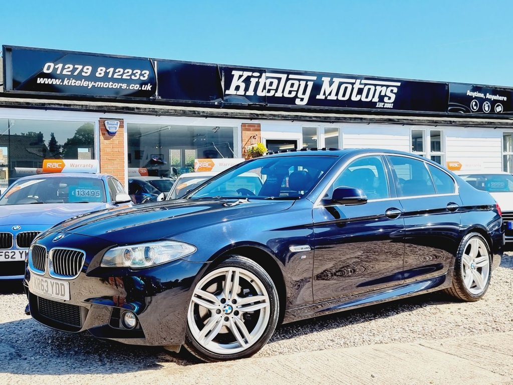USED 2013 63 BMW 5 SERIES 2.0 520D M SPORT 4d 181 BHP SUNROOF