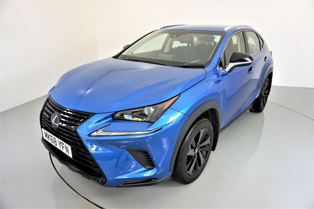 USED 2018 68 LEXUS NX 2.5 300H SPORT 5d AUTO-1 OWNER FROM NEW-HEATED BLACK LEATHER-BLUETOOTH-CRUISE CONTROL-SATNAV-PARKING SENSORS-REVERSE CAMERA-DAB RADIO-ELECTRIC FOLDING MIRRORS-CLIMATE CONTROL