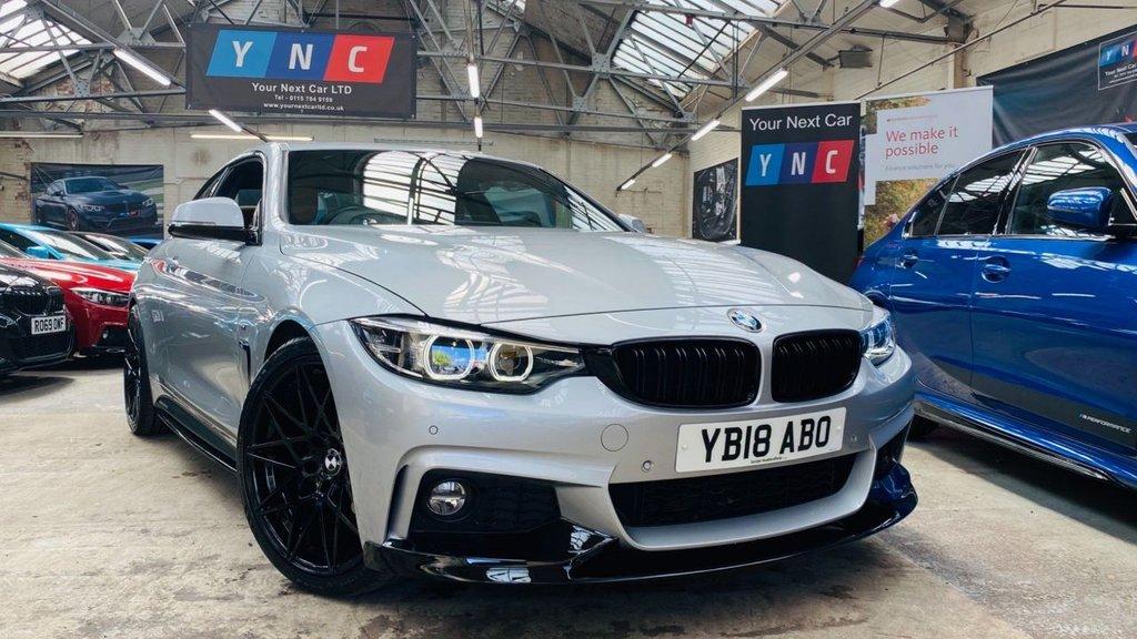 USED 2018 18 BMW 4 SERIES 2.0 420i M Sport (s/s) 2dr PERFORMANCEKIT+20S+DIGITALDASH