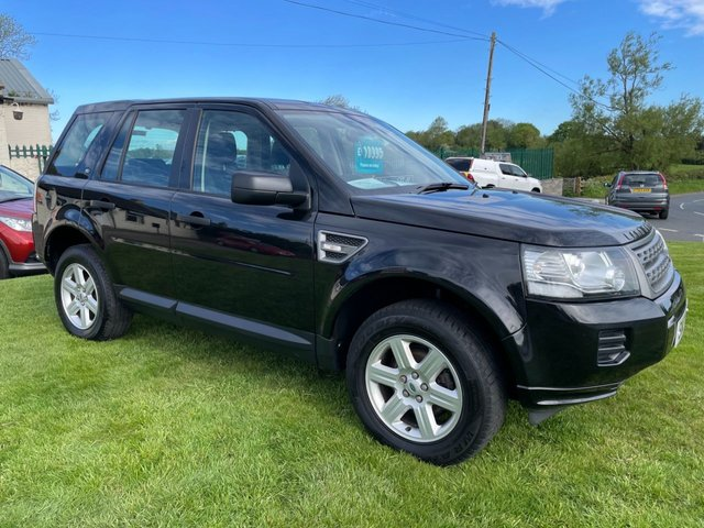 USED 2013 13 LAND ROVER FREELANDER 2.2 TD4 GS 4x4 BLACK/BLACK LEATHER 2 OWNERS