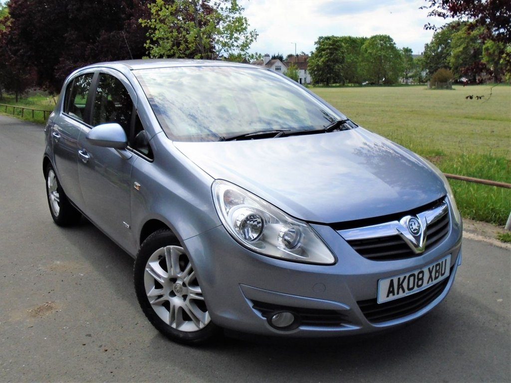 USED 2008 08 VAUXHALL CORSA 1.4 DESIGN 16V 5d 90 BHP FULL AUTO,AIR CON,PART LEATHER