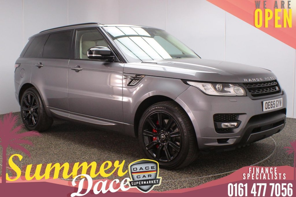 USED 2015 65 LAND ROVER RANGE ROVER SPORT 3.0 SDV6 AUTOBIOGRAPHY DYNAMIC 5DR AUTO 306 BHP FULL MAIN DEALER SERVICE HISTORY + 7 SEATS + HEATED LEATHER SEATS + SATELLITE NAVIGATION + PANORAMIC SUNROOF + PARKING SENSOR + HEATED STEERING WHEEL + BLUETOOOTH + CRUISE CONTROL + CLIMATE CONTROL + MULTI FUNCTION WHEEL + PRIVACY GLASS + DAB RADIO + ELECTRIC WINDOWS + ELECTRIC/HEATED/FOLDING DOOR MIRRORS + 21 INCH ALLOY WHEELS