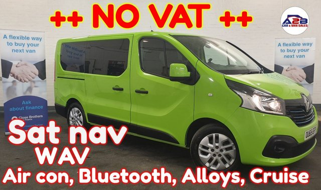 USED 2016 65 RENAULT TRAFIC 1.6 SPORT ++ NO VAT ++ ++ EX MOTABILITY ++ Air con, Bluetooth, Sat nav, 5 seats, Auto headlights, Auto wipers, Electric Windows, Electric Mirrors and much more ...
