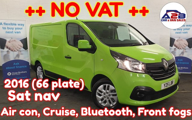 USED 2016 Y RENAULT TRAFIC 1.6  SPORT NAV ++ NO VAT ++ Air con, Bluetooth, Cruise control, Sat nav, auto headlights, Auto Wipers, Euro 6, Electric windows, Electric Mirrors and much more ...