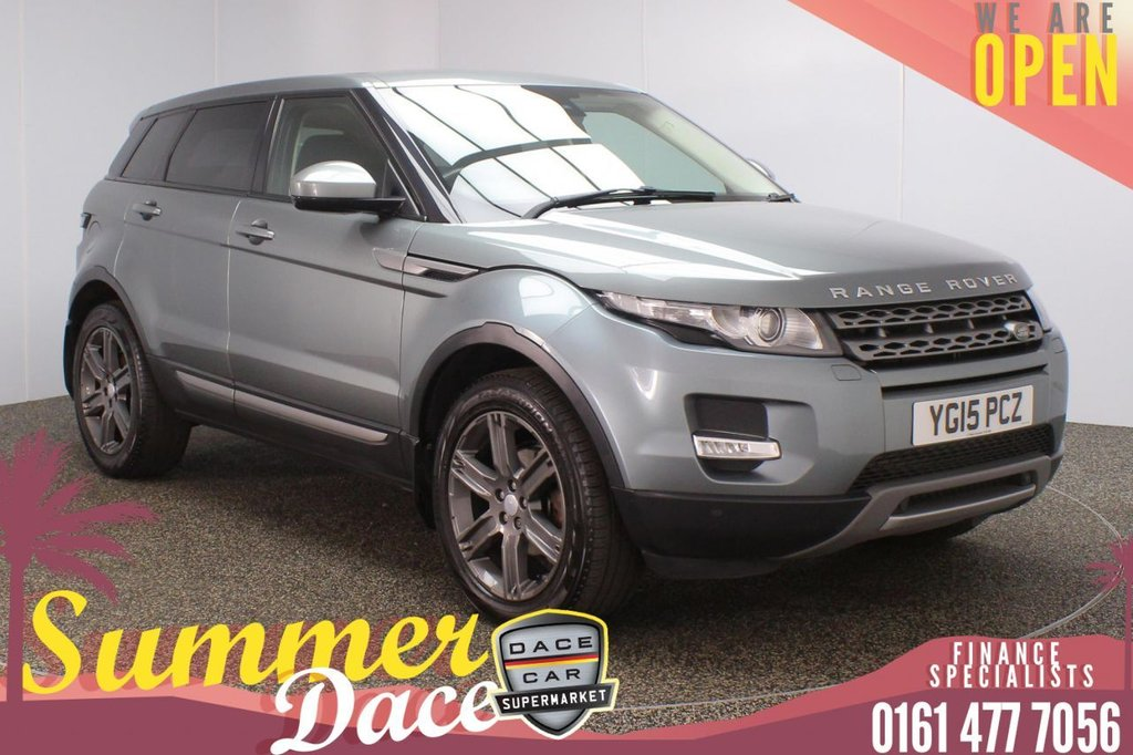 USED 2015 15 LAND ROVER RANGE ROVER EVOQUE 2.2 SD4 PURE TECH 5DR AUTO 190 BHP FULL MAIN DEALER SERVICE HISTORY + HEATED LEATHER SEATS + SATELLITE NAVIGATION + PARKING SENSOR + BLUETOOTH + CRUISE CONTROL + CLIMATE CONTROL + MULTI FUNCTION WHEEL + ELECTRIC/MEMORY FRONT SEATS + PRIVACY GLASS + XENON HEADLIGHTS + DAB RADIO + ELECTRIC WINDOWS + ELECTRIC/HEATED/FOLDING DOOR MIRRORS + 19 INCH ALLOY WHEELS