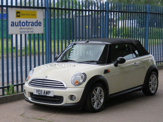 USED 2011 11 MINI CONVERTIBLE 1.6 ONE 2d 98 BHP AIR CONDITIONING, BLUETOOTH, HEATED FRONT SEATS Air Conditioning, DAB, Bluetooth, Heated Front Seats