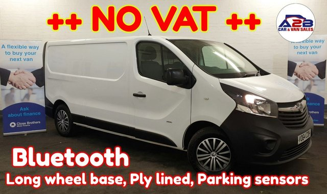 USED 2014 64 VAUXHALL VIVARO 1.6 2900  ++ NO VAT TO PAY ++ ++ LONG WHEEL BASE ++ Bluetooth, DAB, 3 Seats, Electric Windows, Electric Mirrors and much more ...  ++ NO VAT TO PAY ++