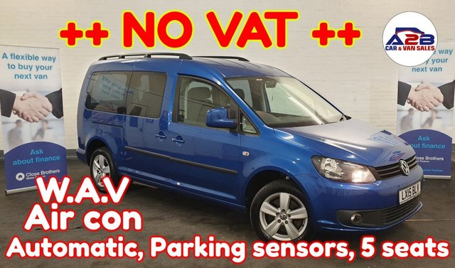 USED 2015 15 VOLKSWAGEN CADDY MAXI 1.6 ++ CHOICE OF 5 ++ ++ NO VAT TO PAY ++ ++ LONG WHEEL BASE ++ AUTOMATIC GEARBOX ++ Aircon, 5 seats, Electric Windows, Electric Mirrors and much more ... ++++ NO VAT TO PAY++++