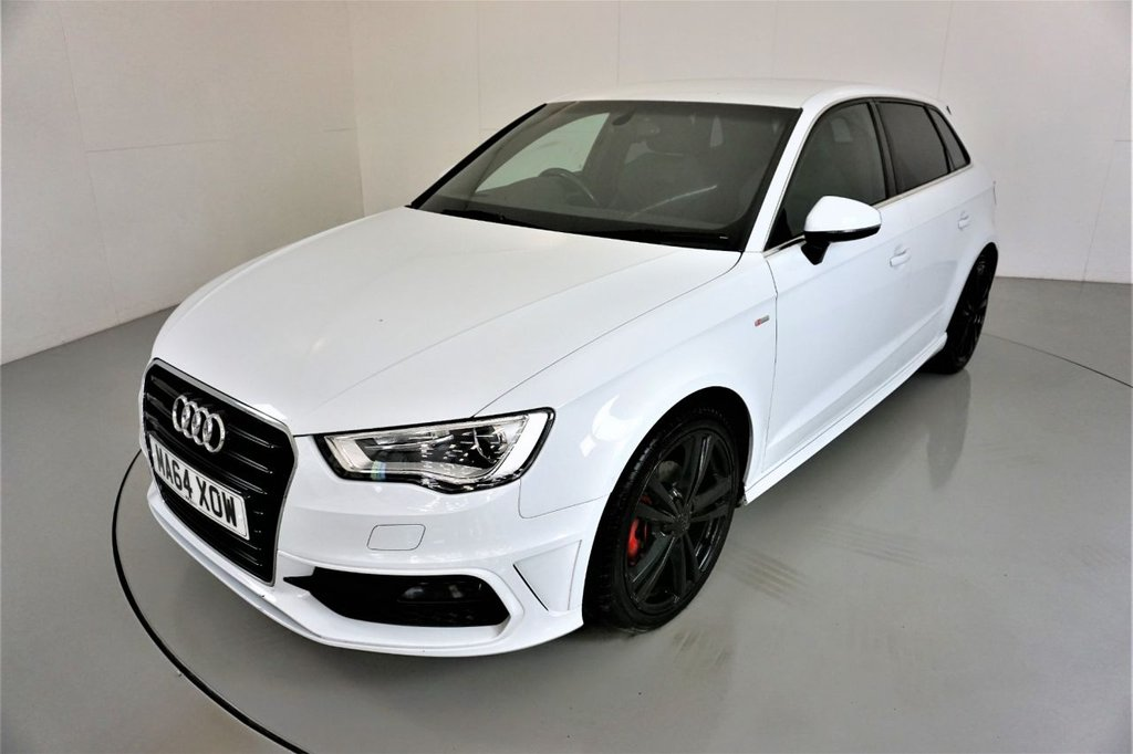 USED 2014 64 AUDI A3 1.4 TFSI S LINE 5d-2 FORMER KEEPERS-HALF LEATHER-BLUETOOTH-CRUISE CONTROL-DAB RADIO-18