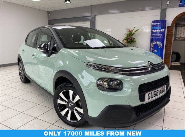 USED 2018 68 CITROEN C3 1.2 PURETECH FEEL 5d 68 BHP ALMOND GREEN / ONYX BLACK ROOF / AIRCON / BLUETOOTH / ANDROID AUTO / SERVICE HISTORY