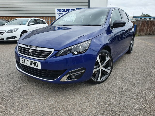 USED 2017 54 PEUGEOT 308 1.6 BLUE HDI S/S GT LINE 5d 120 BHP PART LEATHER*NAV*CRUISE*SERVICE HISTORY*BLUETOOTH*DAB