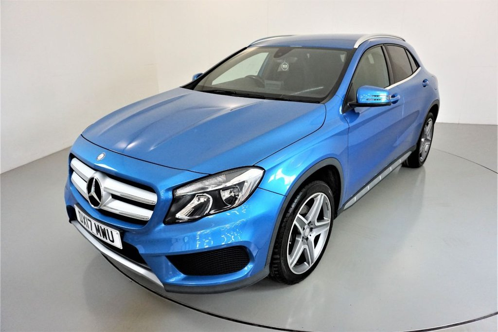 USED 2017 17 MERCEDES-BENZ GLA-CLASS 2.1 GLA 220 D 4MATIC AMG LINE 5d-2 FORMER KEEPERS-HALF LEATHER-BLUETOOTH-CRUISE CONTROL-SATNAV-REVERSE CAMERA-CLIMATE CONTROL