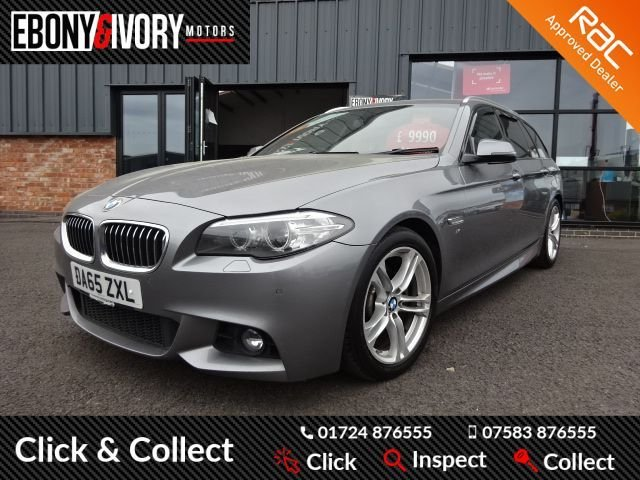 USED 2015 65 BMW 5 SERIES 2.0 520D M SPORT TOURING 5d 188 BHP EXCELLENT EXAMPLE+FULLY SERVICED+1 YEAR MOT+BREAKDOWN COVER