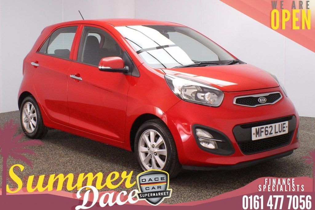 USED 2012 62 KIA PICANTO 1.0 2 5DR 68 BHP FULL SERVICE HISTORY + FREE 12 MONTHS ROAD TAX + BLUETOOTH + MULTI FUNCTION WHEEL + AIR CONDITIONING + AUX/USB PORTS + ELECTRIC WINDOWS + ELECTRIC/HEATED/FOLDING DOOR MIRRORS + 14 INCH ALLOY WHEELS