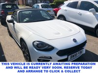 USED 2018 18 FIAT 124 1.4 SPIDER S-DESIGN 2d Stunning Convertible with Massive High Spec in the Best Colour a real Summer Stunner with Low Mileage too Full Service History