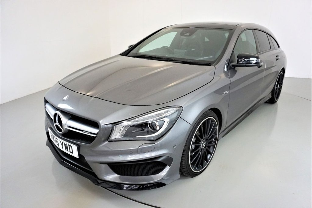 USED 2016 16 MERCEDES-BENZ CLA-CLASS 2.0 AMG CLA 45 4MATIC 5d-NIGHT PACKAGE-PANORAMIC SUNROOF-19