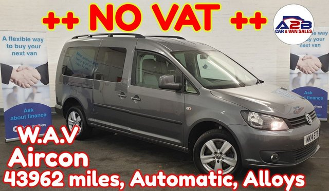 USED 2014 14 VOLKSWAGEN CADDY MAXI 1.6  LIFE CHOICE OF 6 MORE ++ AUTO GEARBOX ++ ++ LONG WHEEL BASE ++ LOW MILES ++ ++ NO VAT TO PAY ++ Air con, Alloys, 5 seats, electric mirrors, Electric Windows, Remote Central Locking and much more ... ++++ NO VAT TO PAY++++